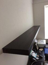 Black/ brown floating shelf