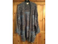 East..Chunky ladies knit cardigan. Size medium 14/16. Open no buttons. Excellent condition.