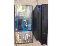 ps2 consort with 4 games