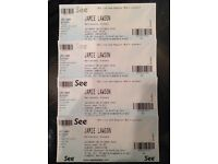 4 X Jamie Lawson Tickets for Glasgow Barrowlands Concert 8th October 2016