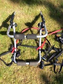 Rear mounted bike rack