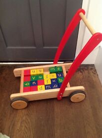 Toddler push along with blocks