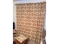 Retro curtains quality heave duty fabric, fully lined width 103 inches x 87 height