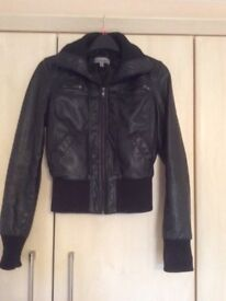 TEENAGE/GIRLS LEATHER LOOK JACKET