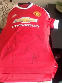Signed Manchester United shirt