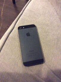 Black I phone 5 16GB unlocked for sale