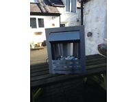 stainless steal electric fire