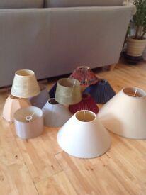 Selection of 12 lamp shades