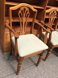 Large Ducal pine table and 6 chairs : FREE Glasgow delivery