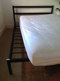 Double metal bed frame £50