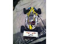 Rc nitro racing car
