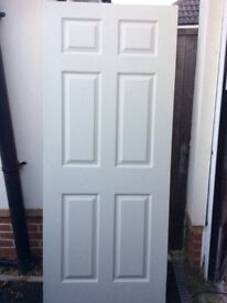 Six panelled door