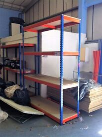 4 TIER INDUSTRIAL WAREHOUSE GARAGE SHED SINGLE BAY RAPID RACKING SHELVING UNIT