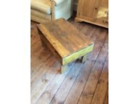 Small Rustic Reclaimed Coffee Table/Side Table Pallet Wood