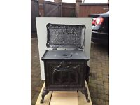 Wood burning cast iron stove - Antique