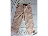 Beige 3/4 length trousers