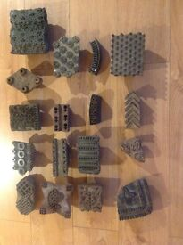 Collection of wooden printing blocks