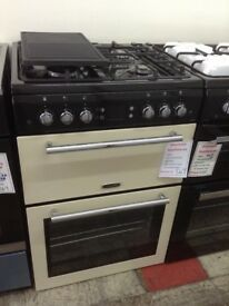 Leisure classic double oven. Cream. RRP £549. New/graded 12 month Gtee