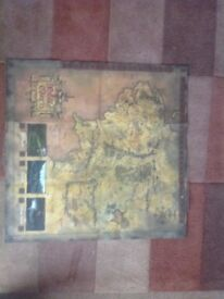 Original Lord of the Rings Middle Earth Map