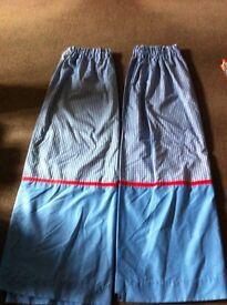 Blue/White Gingham Curtains