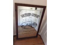 Original 1970's Vintage Mirror advertising Southern Comfort