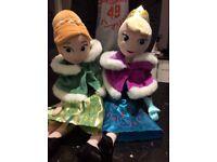 Frozen Anna and Elsa soft dolls