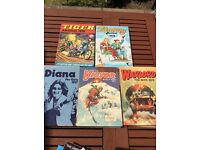 5 annual bundle 1976 - 1979 Diana, Tammy, Tiger, The Victor book for boys, Warlord for boys