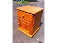 Solid pine bedside cabinet with drawer in great condition