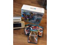 Wii u with 4 games