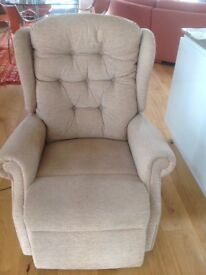 Powered Rising/Reclining Chair with Neck Pillow made in U.K. By Celebrity.