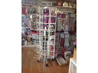 Floor standing retail display spinner - 96 hooks - used