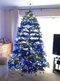 Christmas tree inc. lights & decorations