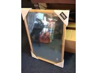 "Dekko Mirror NEW 20"" x 30"" Wooden Frame. Ideal for car boot sellers . 75 in total"