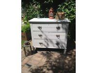 Satin wood antique chest of drawers