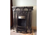 Cast Iron Fireplace with hearth