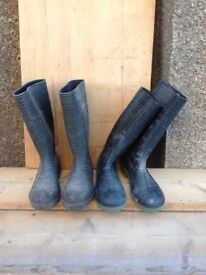Two Pair of 'Donlop' Wellingtons