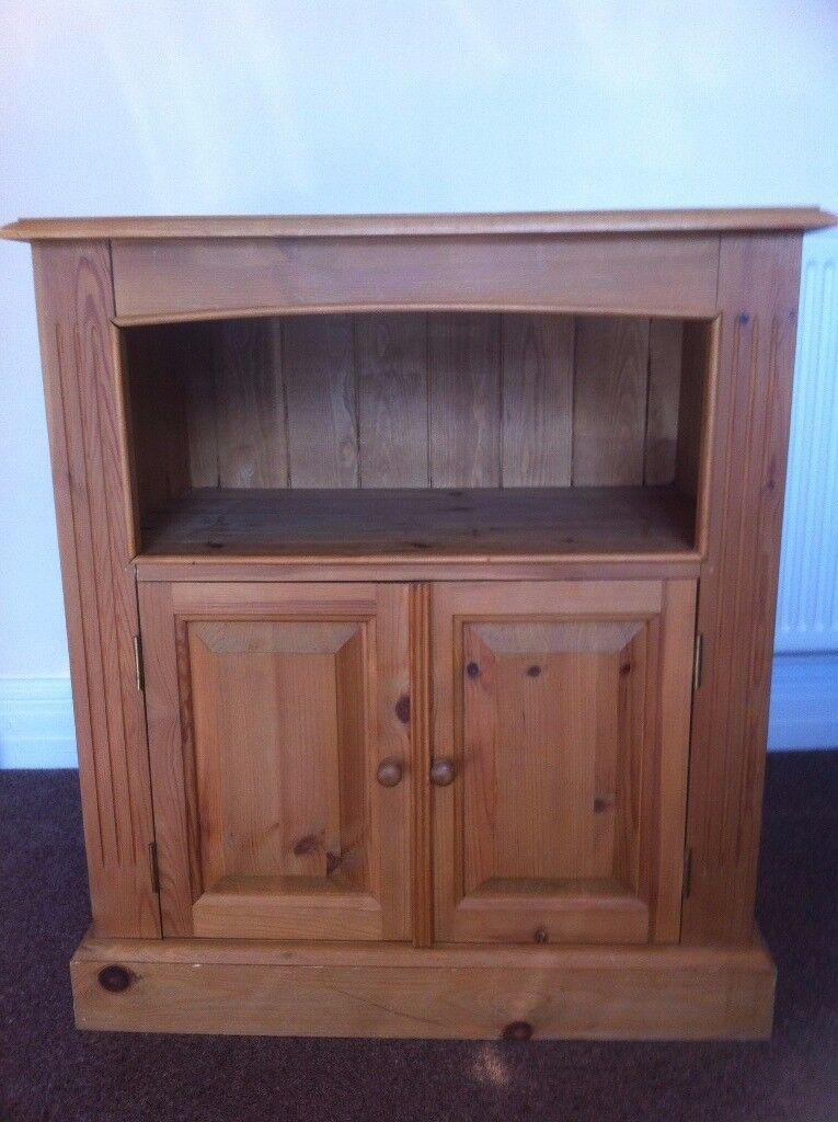 Vintage Solid Pine Convenient Cupboard Unit