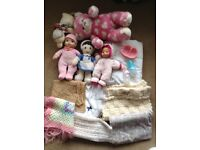Baby doll, build a bear and baby blanket bundle