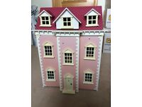 Victorian Style Dolls House and Furniture