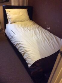 Sturdy Leather effect Vinyl Single Bed