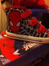 Spider man Hi-tops - NEW Size 2