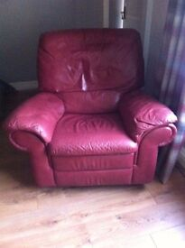 Red Lazy Boy Syle Recliner Armchair