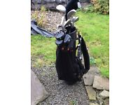 Bargain - Golf clubs, bag, trolley, tees, balls., ideal starter set, all you need