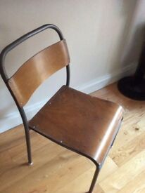 Vintage school dining /cafe /restaurant stacking chairs