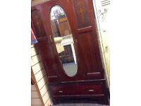 Reduced vintage mirror fronted wardrobe