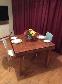 Handmade Rustic Pallet Wood Dining Table Reclaimed