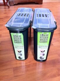 Bin x 2 - £5.00 EACH (slimline kitchen waste caddy) - we will sell separately if you only want one