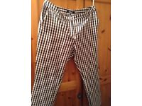 Ladies Black & White check trousers, size 16. Check out my other items for sale, great prices!