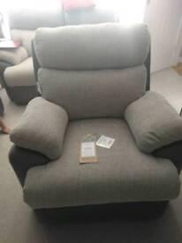 Fabb sofas Apollo power recliner in grey
