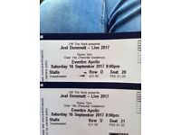 2x Joel dommett tickets. Saturday 16th September. 4th row, great seats!